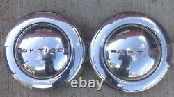 1940s 1950s Pontiac WHEEL COVERS HUB CAPS Original LYON GM accessory deluxe cap
