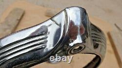 1946 1947 1948 Pontiac HEADLIGHT BEZELS Doors Rings Original GM pair