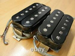1989 Paul Reed Smith HFS and Vintage Bass Pickups Set Pair Silver Baseplates