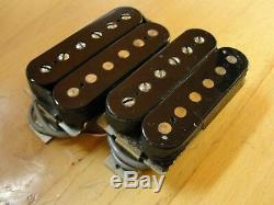 1990 Paul Reed Smith HFS and Vintage Bass Pickups Silver Baseplates Set Pair EXC