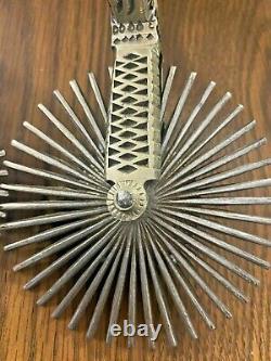 1 Pair of Vintage Antique Chilean Spurs Iron Silver Chile