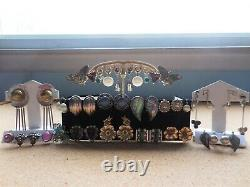 22 Pairs Of Vintage Clip On Screw Back Non Pierced Earrings Lot Sterling Silver