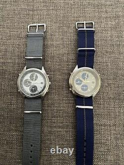 2x Vintage Seiko 7T32-7C60 and 7C69 PANDA Chronograph Watches (PAIR)