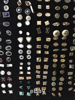 50 PAIR Assortment Silver or Gold Tone/Plate VINTAGE CUFFLINKS bulk $6 per pair