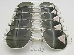 5 Pairs NOS Vintage American Optical AO FG58 White Bayonet Aviator withBox & Cases