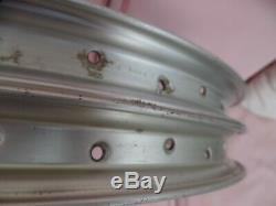 ARAYA 7x Wheels 36h Rims 20x1.75 Pair, Silver 1980's Old School BMX Vintage