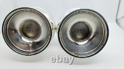 A Pair of Vintage Solid STERLING SILVER SALT & PEPPER SHAKERS