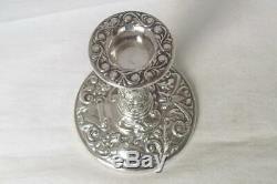 A Stunning Vintage Pair Of Sterling Silver Candlesticks Birmingham 1972
