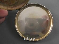 Antique Vintage Italy Silver & Enamel Powder Compact Courting Couple Attendants