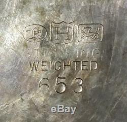 Antique Vintage Pair of Sterling 3 Light Candelabra Hunt Silver Co. #653 1286g