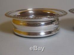 BARKER ELLIS Silver Plated Wine Bottle / Decanters Pair Coasters Vintage