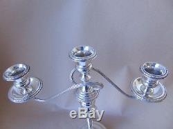 Beautiful Pair 12 Vintage Sterling Silver Ornate Candelabra / Candlesticks 1962