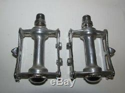 Campagnolo Nuovo Record vintage Bicycle Track Pista Pedals Pair