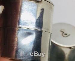 Cartier Vintage Sterling Silver Rare Form Pair Salt & Pepper Shakers