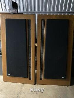 Carver Vintage Amazing Silver Speakers Pair