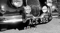 Classic & Vintage Ace Peak, Number / License Plates, Black & Silver, (Pair)