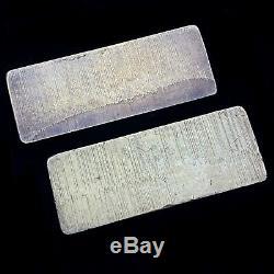 Consecutive Pair of Vintage Engelhard Half Kilo Silver Bars w Original Boxes