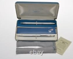 Cross vintage 1960 couple's gift set, 2 BP for him & her, 925 solid silver