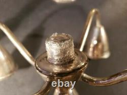 Duchin Creation Sterling Silver 5 Arm Weighted Candelabra 10h 753g Vintage Pair