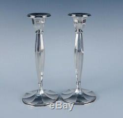 Elegant Art Deco Vintage c1920s Gorham Durgin Pair Sterling Silver Candlesticks
