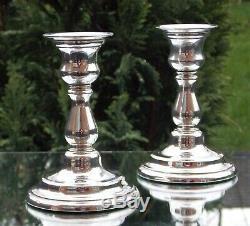 Fabulous Pair Vintage Solid Silver Candlesticks London 1995