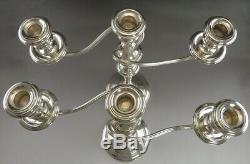 Fine Pair Vintage Gorham Sterling Silver Convertible Candelabra Candlesticks