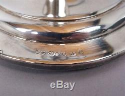 Fine Vintage Pair 1950s Sweden Swedish GAB Decorative 830 Silver Candlesticks