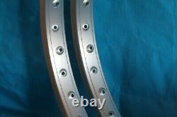 Genuine Araya 7x Rims (Pair) 2 x 24 Rims BMX Cruiser Old School Vintage Retro