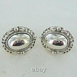 Good Vintage Sterling Silver Pair Of Heritage Earrings By Georg Jensen, 1995