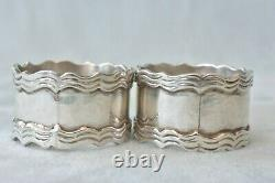 Heavy Vintage Pair of Sterling Silver SANBORNS MEXICO Napkin Rings No Monogram