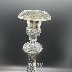 Heritage 1847 Rogers Bros Silver Plated Vintage Candle Stick Holder Pair #9416