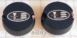 JBL 075 Horn Tweeter PAIR 8ohm Aluminum USED JAPAN USA vintage altec EX RARE
