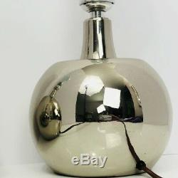 Laurel Lamp Pair Chrome Mid Century Modern Vintage Silver Table Light Marked