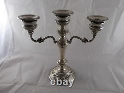 Lovely Pair Vintage Solid Sterling Silver Candelabra 1975 & 79 9 High