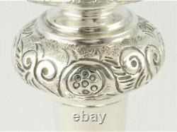 MATCHED PAIR VINTAGE SILVER CHALICES OR GOBLETS HM SHEFFIELD 1957 & 1960 186g