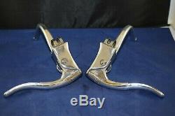 Mafac brake lever pair dual double action 1980s Aluminium France Vintage NOS