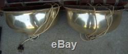 Mappin & Webb Sheffield Pair of Vintage Silverplated Lamp Wall Sconces