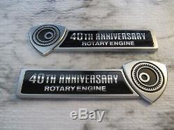 Mazda OEM Genuine 40th Anniversary Rotary Engine Front Fender Emblems Badge RX-8