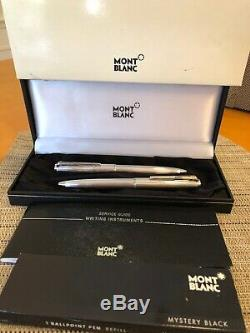 Montblanc Vintage Pair Of 2 Sterling Silver Ballpoint Pens