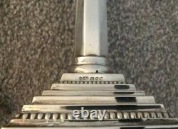 Nice Pair Of Vintage Georgian Style Tall Solid Silver Candlesticks