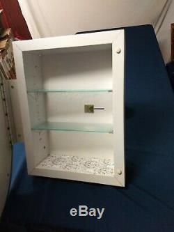 PAIR Miami-Carey Vintage Oval Wall Mirror Medicine Cabinet Antique Silver-2