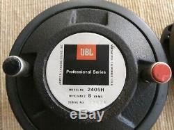 PAIR OF VINTAGE JBL 2405 H slot TWEETERS 8 OHM JBL professional series