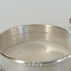 PAIR VINTAGE GORHAM STERLING SILVER NAPKIN RINGS, NO MONOGRAM, 30 grams