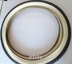 PAIR VINTAGE US RUBBER 24 X 2.125 WithW BICYCLE TIRES (USA) NOS MONARK SILVER KING