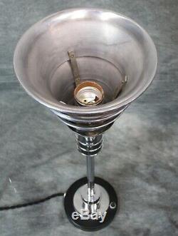 PAIR VTG Kent Era Machine Age Art Deco Ringed Torchiere Lamps c. 1934 RESTORED