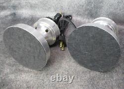 PAIR VTG Machine Age Art Deco Speed Ring Aluminum Budoir Lamps c. 1935