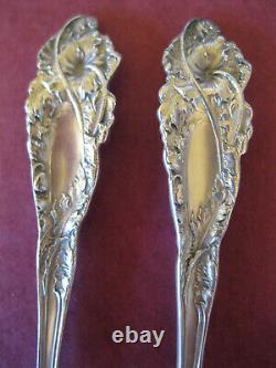PAIR Vintage 5 1/8 Spoons LOVE DISARMED Sterling Silver REED & BARTON Teaspoons