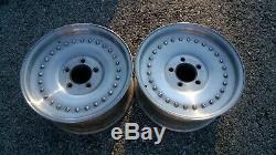 PAIR Vintage Centerline 15 x 7 GM Chevy Satin Center Line Auto Drag Wheels