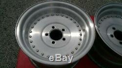 PAIR Vintage Centerline 15 x 8 1/2 Mopar Ford Center Line Auto Drag Wheels