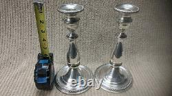 PAIR of VINTAGE MUECK-CAREY CO STERLING SILVER CANDLESTICKS #263 GREAT CONDITION